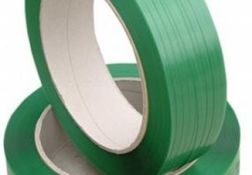 Лента ПП 9 х 0,65мм – 3,0 км (зелена) Ø 200 мм для напівавтоматів