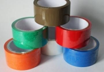 Скотч 9мм х 66 х 45мк  зелен., червон., жовт., синій.