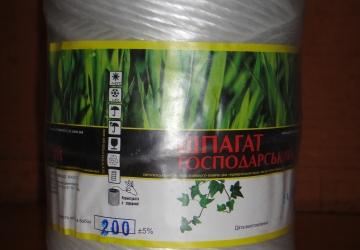 Шпагат ПП белая 1000м, 1кг