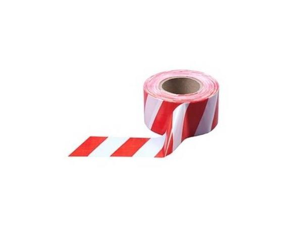Сигнальная лента оградительная бело-красная 72мм*50м.п. -