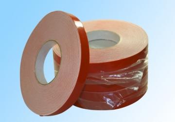 Скотч двухсторонний вспененный 30802WR (12ммх2м), 15 N/25мм \ 80 кг/м², 1мм, -20 +80 С°, акрил