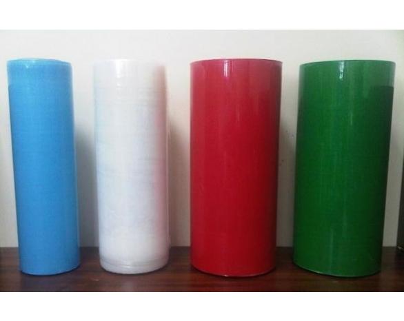 Стрейч пленка вторичная цветная от 15 мкм до 23 мкм -