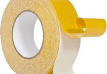 Скотч двухсторонний тканевый 80221WY Clothe Tape (38ммх5м) 220 мкм