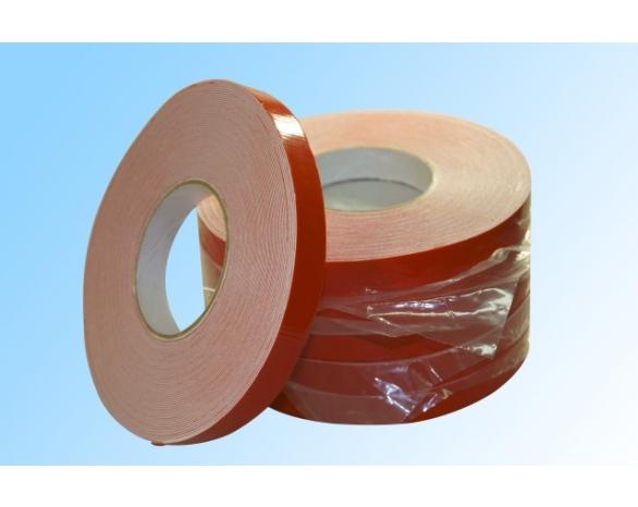Скотч двухсторонний вспененный 30802WR (12ммх2м), 15 N/25мм \ 80 кг/м², 1мм, -20 +80 С°, акрил -