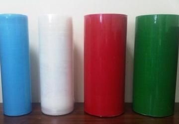 Стрейч пленка вторичная цветная от 15 мкм до 23 мкм