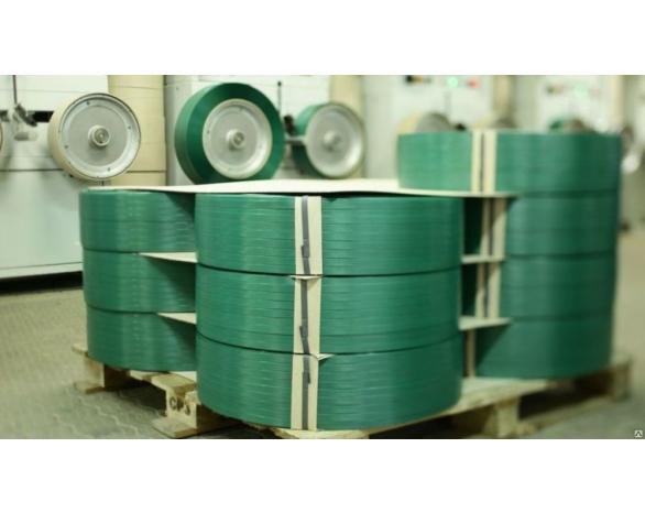 Лента ПП 12 х 0,8 мм - 2,0 км (зелена) Ø 200 мм для напівавтоматів -