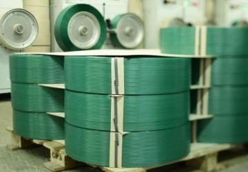 Лента ПП 12 х 0,8 мм - 2,0 км (зелена) Ø 200 мм для напівавтоматів