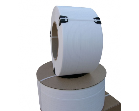 Лента ПП 5 х 0.5 мм – 2,5/5,0 км (біла) Ø 63/150мм для автоматів -