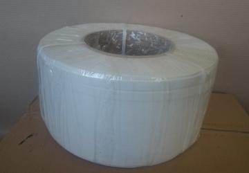 Лента ПП 16мм х 0.8 мм – 1.5 км (біла) Ø 200мм  для напівавтоматів