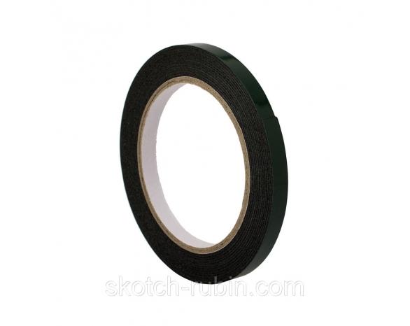 Скотч двухсторонний вспененный 30801BG (15ммх5м), 15 N/25мм \ 80 кг/м², 1мм, -10 +90С°, каучук -