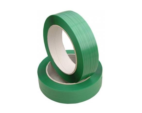 Лента ПП 9 х 0,65мм – 3,0 км (зелена) Ø 200 мм для напівавтоматів -