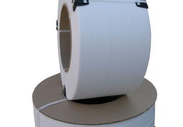 Лента ПП 5 х 0.5 мм – 2,5/5,0 км (біла) Ø 63/150мм для автоматів