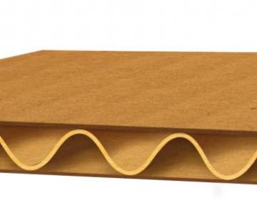 Трехслойный гофрокартон листовой