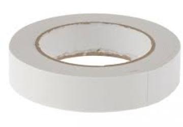 Скотч двухсторонний вспененный 30801WW (19ммх3м), 10 N/25мм \ 65 кг/м², 1мм, -10 +90 С°, каучук