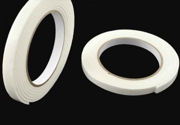 Скотч двухсторонний вспененный 30801WW (15ммх3м), 10 N/25мм \ 65 кг/м², 1мм, -10 +90 С°, каучук