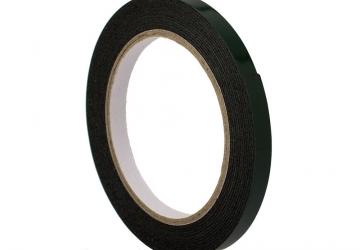 Скотч двухсторонний вспененный 30801BG (12ммх5м), 15 N/25мм \ 80 кг/м², 1мм, -10 +90С°, каучук