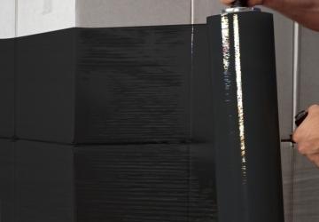 Стрейч пленка черная 20 мкм*500мм*218м 2,0 кг