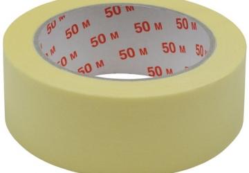 Скотч малярный 10101(48ммх50м) 140 мкм, желтая