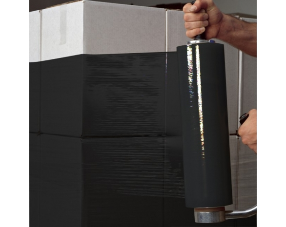 Стрейч пленка черная 20 мкм*500мм*218м 2,0 кг -